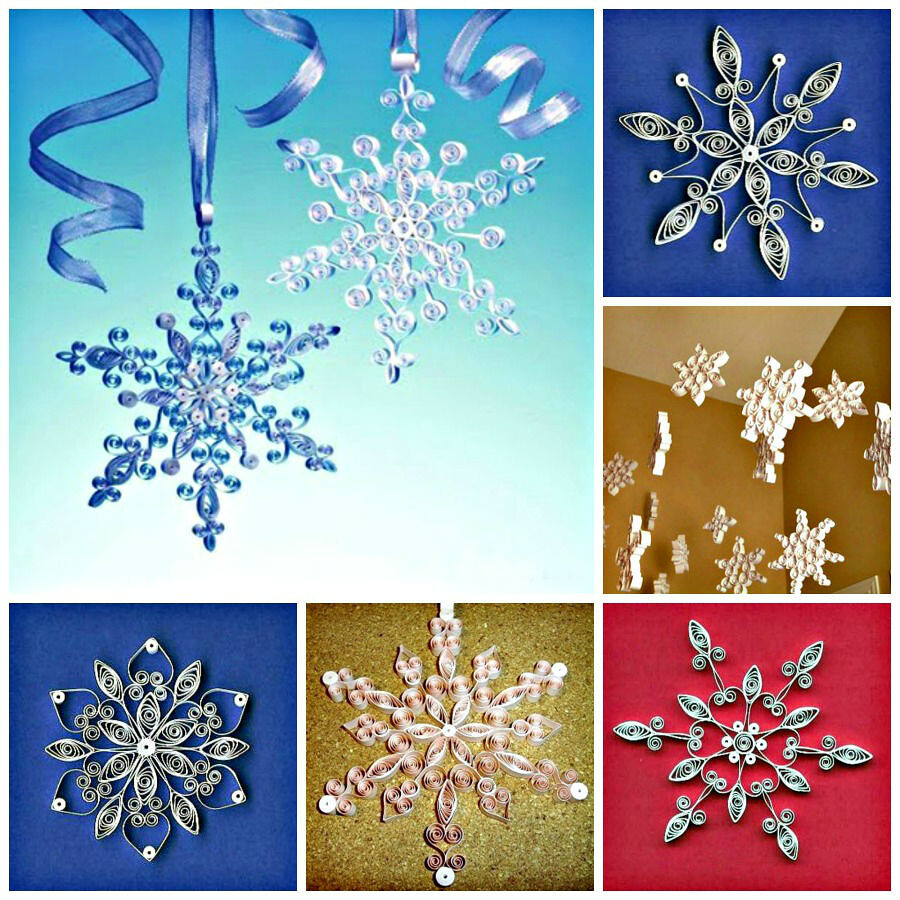 quilling snowflake patterns  Quilled Snowflake Patterns | Everyone loves quilled snowflak ...