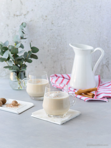 Creamy Spiced Apple-Nog (aka Vegan Egg-Nog) | by 84thand3rd