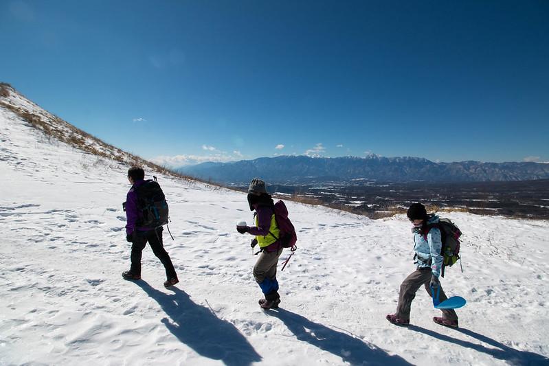 飯盛山の雪山入門