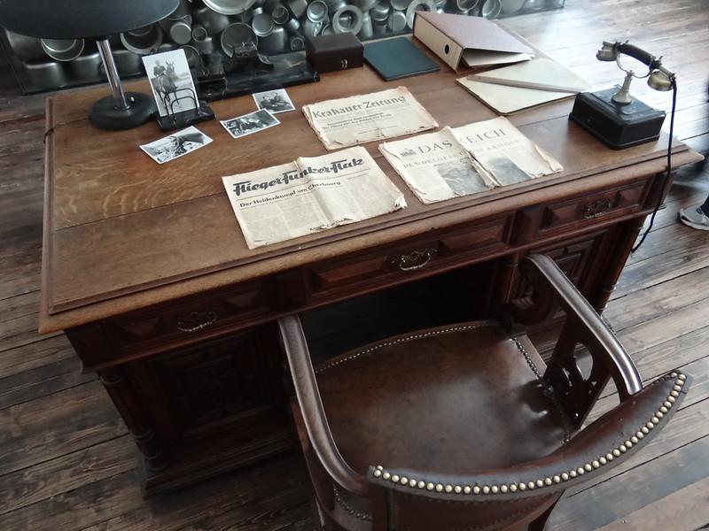 Oskar Schindler's Desk - Krakow 1939-1945 Museum - In Oskar Schindler's Factory - Krakow - Poland