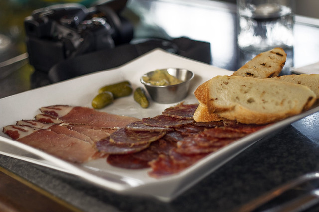 Charcuterie in Packer's Lounge, Semiahmoo Resort, $9.00 during happy hour, starting at 2:00PM