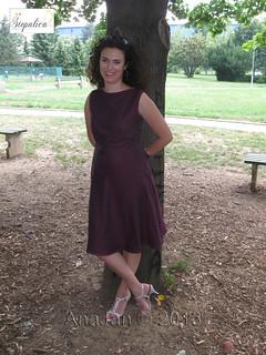 Nougat dress, view C