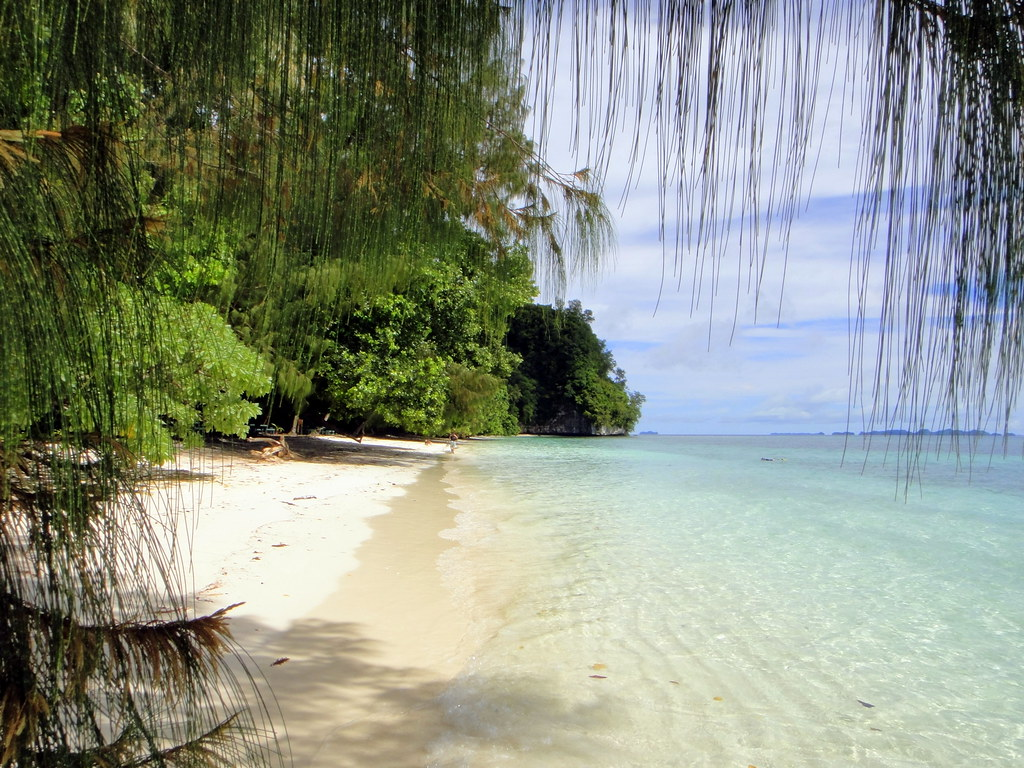 Beach at Ulong Island, Palau