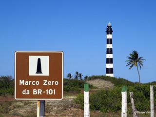 Marco zero da BR-101 e farol do calcanhar - Touros/RN   by Gleyse Vieira