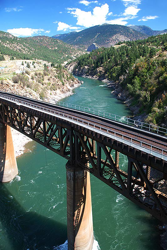 Rail Bridge over the Thompson River in Lytton, Gold Country, Thompson Nicola, British Columbia