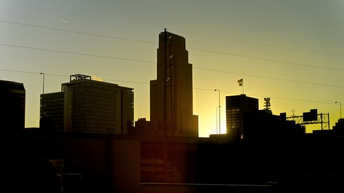 city sunset urban silhouette skyline nebraska highcontrast omaha contrejour hiltonomaha sonya7 fe5518za
