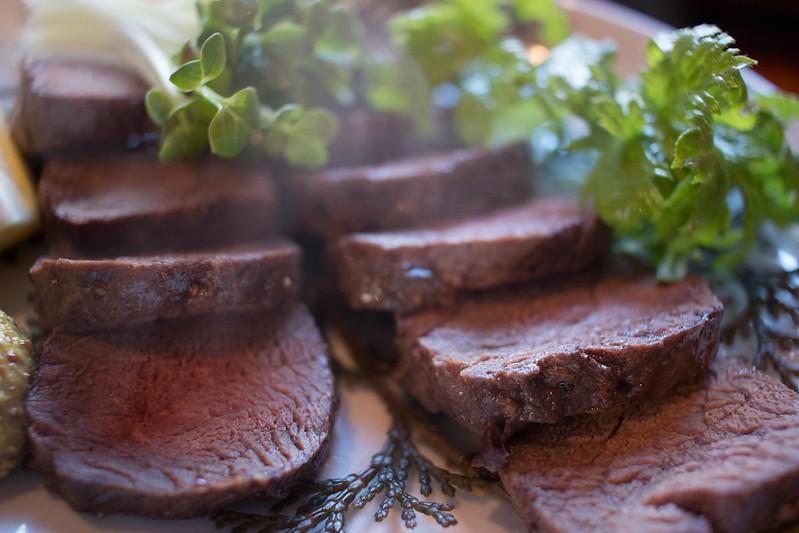 仙人小屋の鹿肉ロースト定食