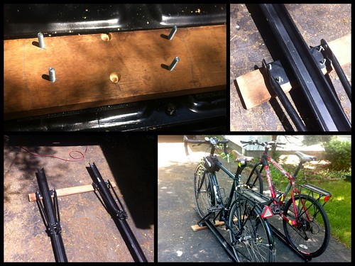 Truck bed bike rack construction | by anoved