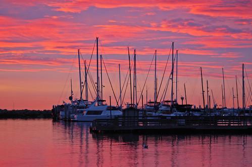 nautical santabarbara harbor december 2003 nikon d100 nikond100 sunrise silhouette free creativecommons