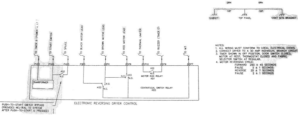 Frigidaire FSE747GES1 Dryer - Wiring Diagram part 2 - Midd ... on general electric dryer diagram, dryer schematic, kenmore dryer diagram, electric dryer connection diagram, hotpoint dryer diagram, gibson dryer diagram, dryer fuse diagram, ge dryer diagram, whirlpool electric dryer thermostat diagram, maytag dryer belt diagram, duet dryer diagram, gas clothes dryer diagram, 4 wire dryer connection diagram, dryer repair diagram, crosley dryer diagram, whirlpool dryer wire diagram, amana dryer diagram, dryer electrical diagrams, dryer cord diagram, whirlpool gas dryer diagram,