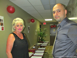 On September 5, 2013 Reeves College, Calgary City Centre Campus hosted an open house event - Reps - Jan and Qais