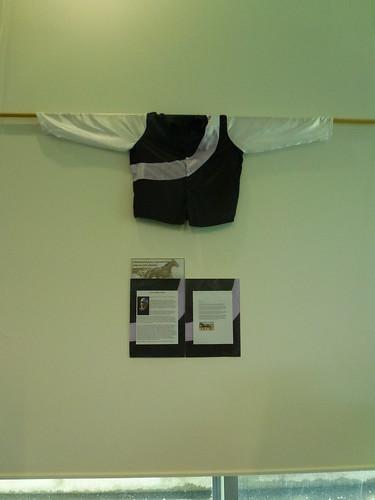 Racing silks display at South Library