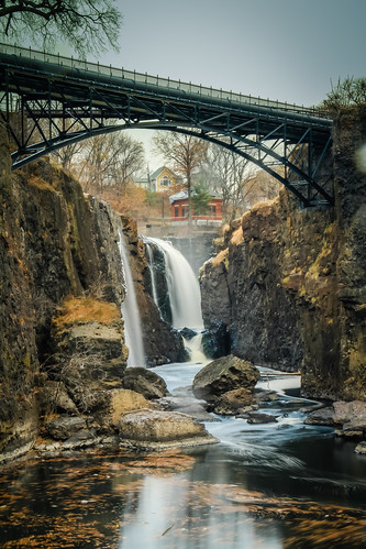 great falls passaic river paterson national historical park service waterfall landmark extreme hdr lightroom canon eos 7d new jersey nj usa long exposure bridge