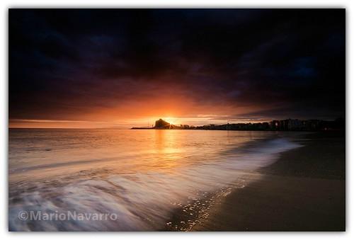 sea de atardecer agua nikon ciudad playa arena murcia cielo nubes olas mediterráneo región águilas d7000
