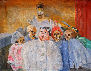 Ensor, Pierrot and Skeletons | by f_snarfel