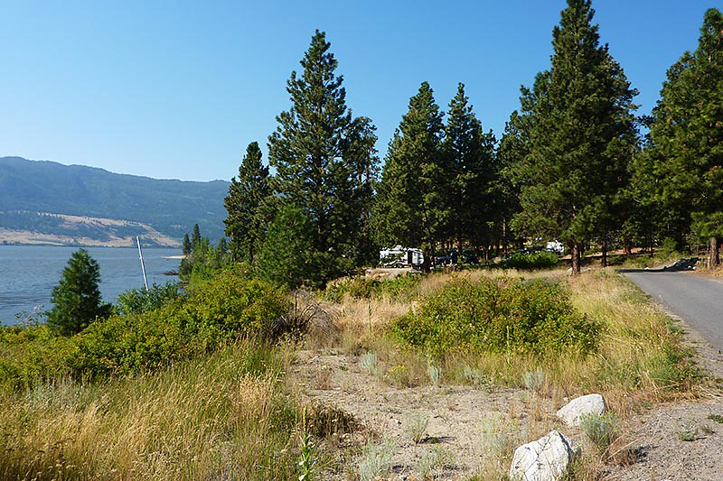 Campground at Monck Provincial Park, Nicola Lake, Merritt, Nicola Valley, British Columbia, Canada
