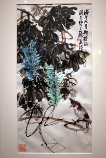 Jade Vine and Black-crested Chin Bulbul