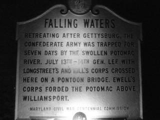 Night Pic Of Falling Waters Sign Civil War Era | by woofdriver