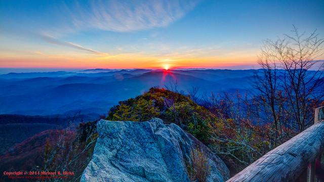 Sunrise from Mount Cammerer - April, 2014