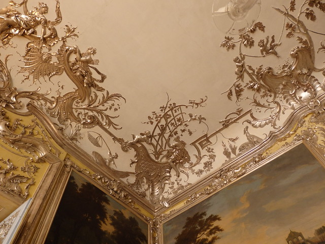 Decorative detail, the Hunting Room, the Amalienburg