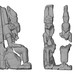 Virtuální rekonstrukce sousoší boha Amona a bohyně Mut nalezeného vTýfóniu ve Wad Ben Naga, foto: Národní muzeum