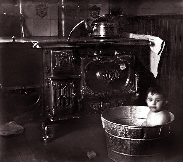 Bath Time, 100 Years Ago