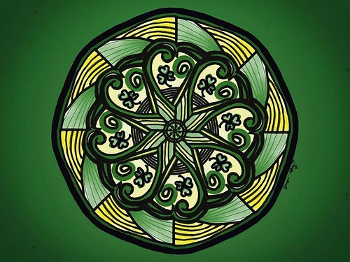 May the Irish hills caress you. May her lakes and rivers bless you. May the luck of the Irish enfold you. May the blessings of Saint Patrick behold you. #saintpatricksday #mandalaart #mandala_sharing #mandala_art #instartist #instagoodness #fridayart #stp