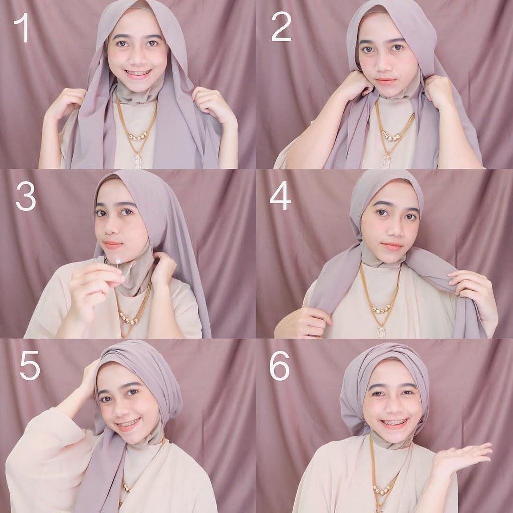 Tutorial Hijab Langkah Praktis Cara Berhijab Simple Untuk Flickr