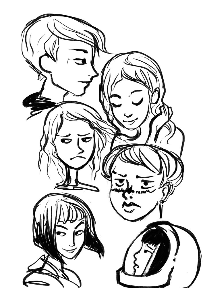Warm-up faces | I realise I haven't posted much this year  N