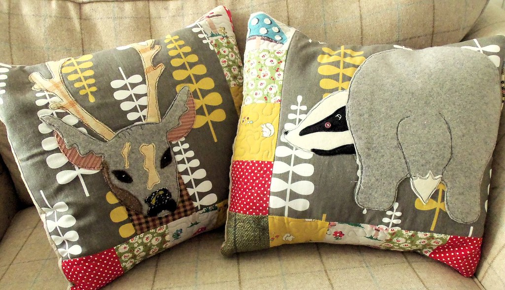 Woodland friends cushions applique cushion covers for bustu flickr