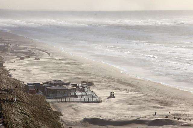 Storm on Zandvoort Beach