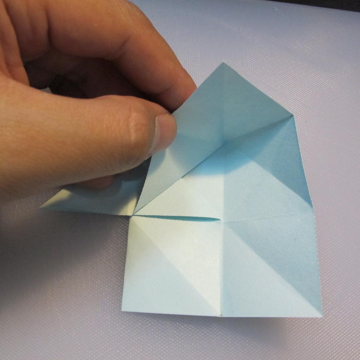 การพับกระดาษรูปดาวกระจาย (Star Origami – スターの折り紙) 010