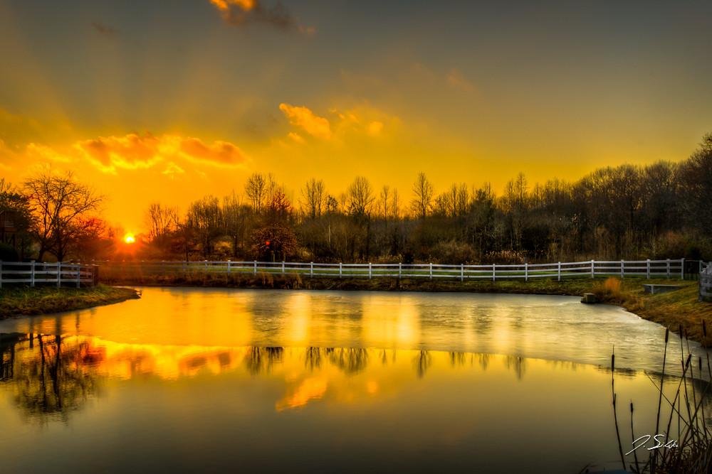 Winter sunset in West Windsor, NJ