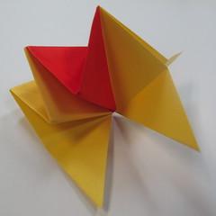 วิธีการพับกระดาษเป็นดาวหกแฉกแบบโมดูล่า 016