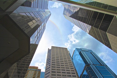 Rainbow in the towers. | by davebloggs007