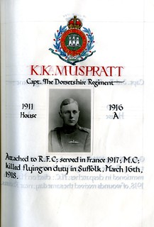 Muspratt, Keith Knox (1897-1918)   by sherborneschoolarchives