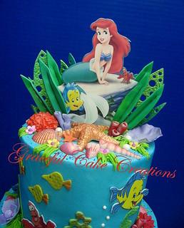 Pleasing Ariel Little Mermaid Birthday Cake Grace Tari Flickr Funny Birthday Cards Online Elaedamsfinfo