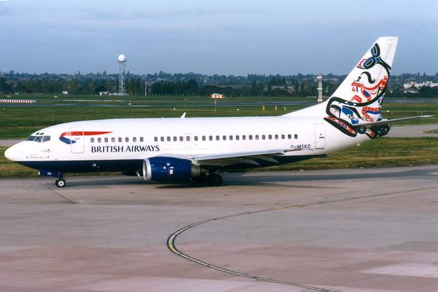British Airways (Maersk Air) | Boeing 737-500 | G-MSKD | Whale Rider | Brimingham International