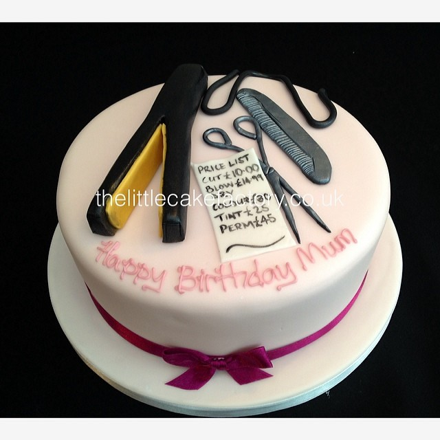Brilliant Hairdresser Hairstylist Cake Vanilla Sponge Birthdaycak Flickr Funny Birthday Cards Online Overcheapnameinfo