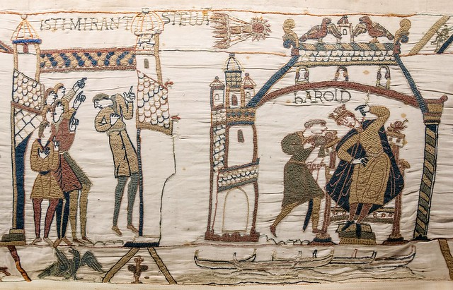 Comet Halley, Bayeux Tapestry, Scene 32