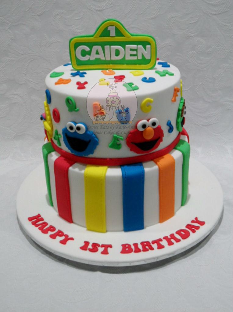 Astonishing Sesame Street Themed Cake 2 Copy Sesame Street Cake For Flickr Personalised Birthday Cards Sponlily Jamesorg