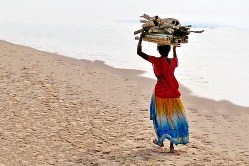 india odisha puri womancarryingwood asienmanphotography