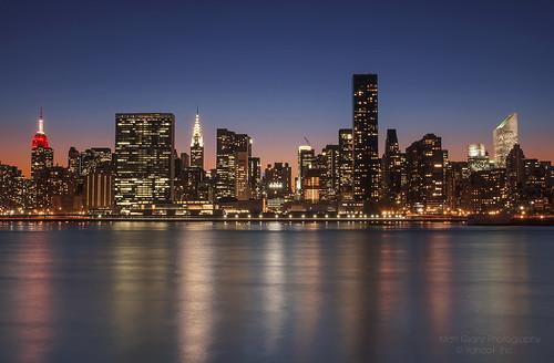 city sunset newyork skyline river twilight manhattan empirestatebuilding chryslerbuilding