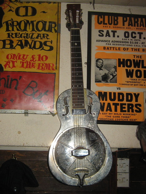 Guitars, Ukuleles, etc. [Necked Box Lutes played with Hands] 196: Resonator Guitar [National style] (of Owen Houlston)