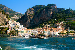 The town of Amalfi as seen from the water. | by Boss Tweed