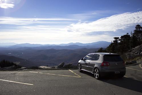 blue mountain mountains vw north grandfather ridge carolina gti mkv