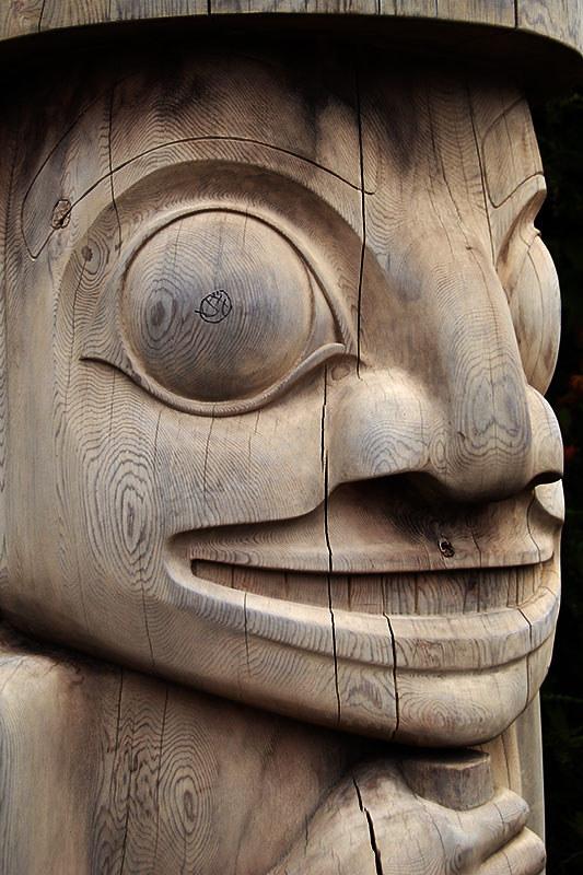Totem Pole in Tofino, Vancouver Island, British Columbia