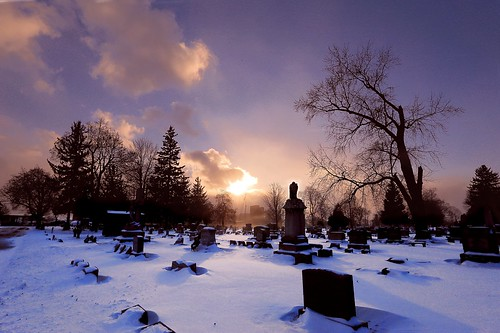 sunset snow ny rochester explore mthopecemetery lisacook