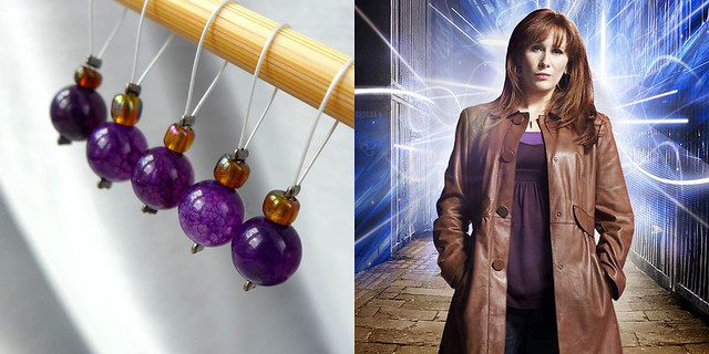 Donna Noble - Exchanging Fire Stitch Markers