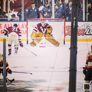 #nhl #hockey #heritageclassic #canucks warm ups @strombone1 it's too bad you didn't get into the game